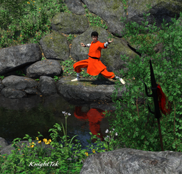 Young Monk in Training by KnightTek