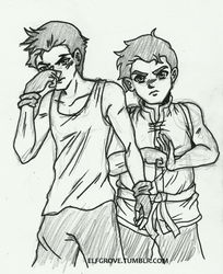 BB Bolin and Mako by elfgrove