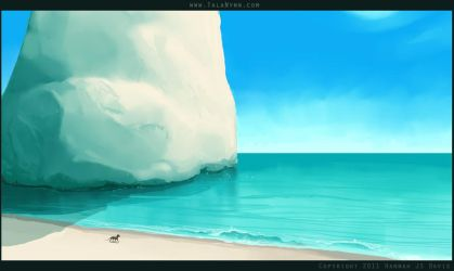 Dream Sketch: Quiet Beach by Ahkahna