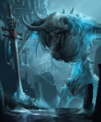 Sithhud, the Frozen Lord - Pathfinder Demon by MorkarDFC