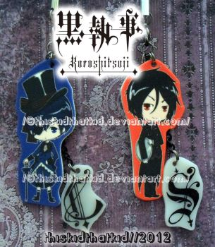 Ciel and Sebastian Phone Charms! by thiskidthatkid