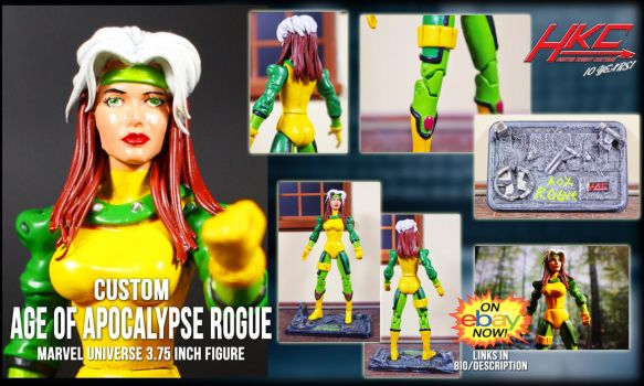 custom age of apocalypse rogue figure by Hunter Kn by hunterknightcustoms