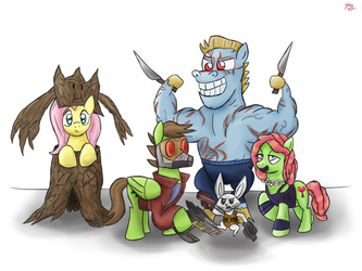 MLP: Guardians of the Galaxy (Tree Buds Edition) by PacificGreen