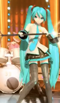 New Project Diva Arcade Miku's hair by KagamineShotaLen