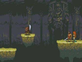 MegaDrive Inspired game, THUD the Conqueror by manmonkee