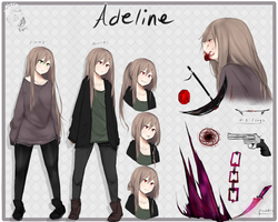 Adeline//reference sheet by oOBaka-AdiOo