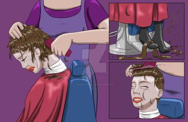 Elize Gets a Haircut Part 4 by danielwartist