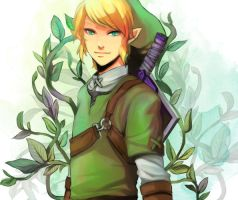 legend of zelda link by vanillatte54