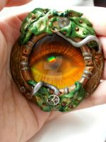 Holographic Eye Pendant by IronMaiden37