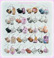 Kawaii cats earrings by Bojo-Bijoux