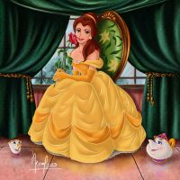 BELLE WITH A ROSE by FERNL