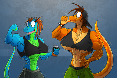 Buffed up sisters by McTaylis