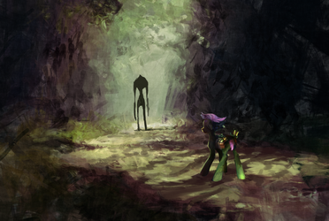 Something in the road by Komical