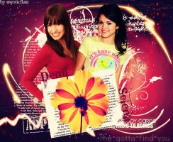 layout 9 with Demi and Selena by favour93