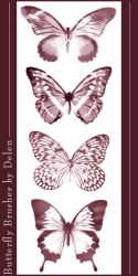 Butterfly Brushes by DelenStock