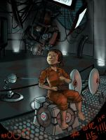 Chell's Cake Party by DarthFar