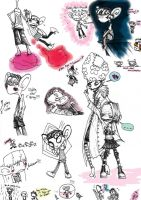 Psychonauts sketchdump by Twisted-chan