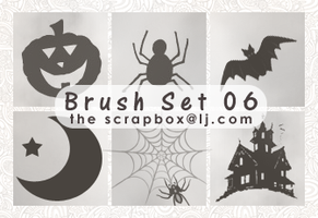 Brush Set 06 - Halloween 2010 by bystrawbrry