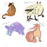 Animal fusions by Clownmonarch