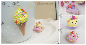 :: 4 new Yummy and Kawaii charms :: by decoland