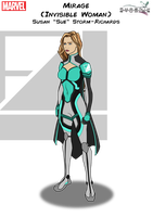 Mirage (Invisible Woman) by Kyle-A-McDonald