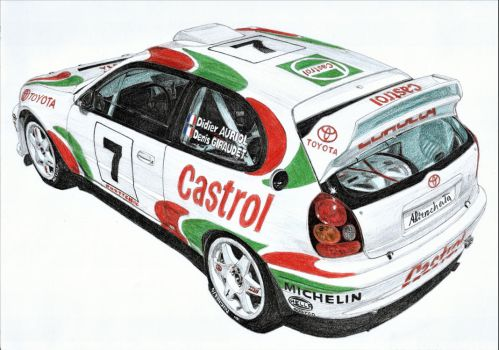 Toyota Corolla WRC 3/3 by PaperGarage