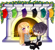 Chibi Couple Comm - GROUP COMM #3 by x-Cute-Kitty-x