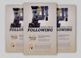 Fathers Worth Flyer and Poster Template by Godserv