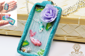 Polymer Clay and Resin Fish Necklace by Crystarbor