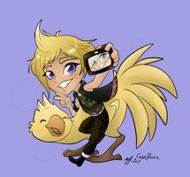 -Final Fantasy 15- Prompto Selfie by Godspoison