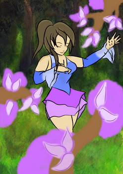 Hana the Mage of Flora by Cianjoeh