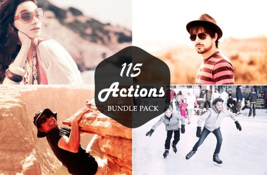 FREE DOWNLOAD : 115 PRO PHOTOSHOP ACTIONS BUNDLE by creativewhoa