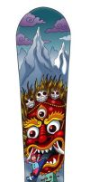Tibetan Sled of the Dead by tat2pooch