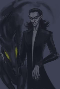 Pitch Black Loki by noroone