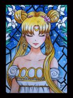 Sailor Moon - Watercolors by Krystal89IT