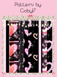 Patterns un Black by Coby17