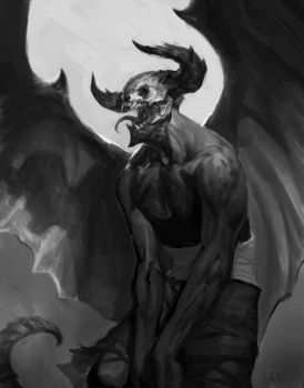demon sketch by AlexPascenko