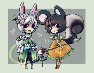Blade and Soul - Catkin and Kanpyou by Cowslip