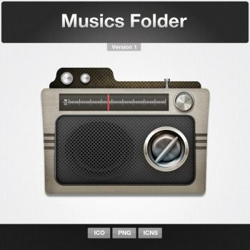 Musics Folder Icon by limav