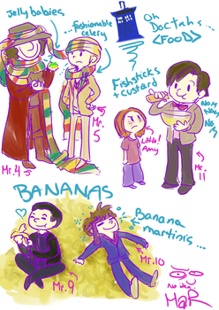 Doctor and their food -Dr.Who by KittyMira
