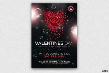 Valentines Day Flyer Template V14 by Thats-Design