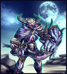 Abyssal Knight Ares by FrancisLugfran