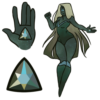 Mystery Gem Adopt - Galaxite by Shinigami--Apples