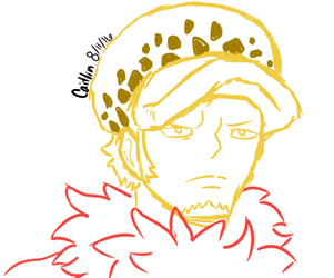 Trafalgar Law Headshot Sketch by WolfWarrior01