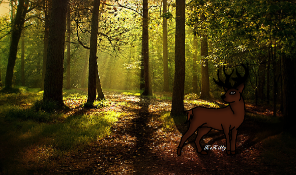 Prancing In The Forest by KeKitty