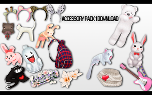 MMD Accessory Pack 1 DL by UnluckyCandyFox