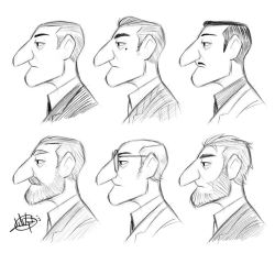 Profile Character Variety Sketches by LuigiL