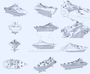 Triton class warship destroyer by exetleos