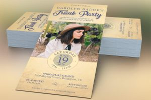 Retro Trunk Party Flyer Template by Godserv