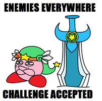 kirby - CHALLENGE ACCEPTED by KingKirbyThe3rd